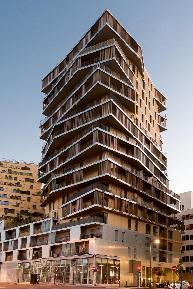 Bâtiment Home, ZAC Masséna, Paris XIII - © Vincent Kriéger