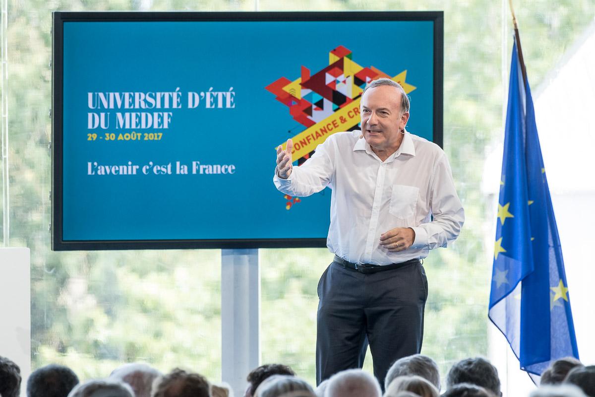 UNIVERSITÉ D'ÉTÉ MEDEF - Pierre Gattaz - © Vincent Kriéger