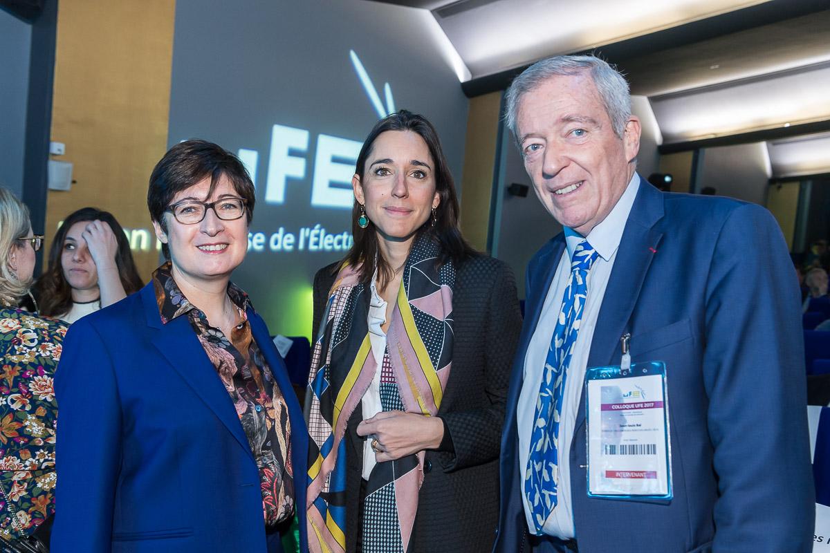 Christine GOUBET-MILHAUD Présidente - UFE, Brune POIRSON et Jean-Louis BAL, Président - SER
